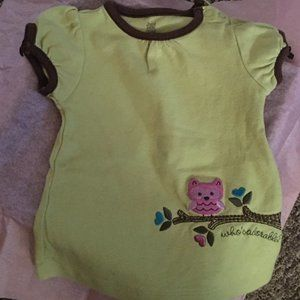 JUST ONE YEAR by Carter's Cute Owl Shirt 9 Mos EUC